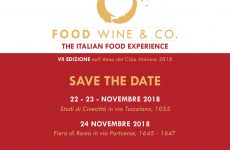 "Food, Wine & Co.Torna a Roma la VII edizione di ""The Italian Food Experience"""